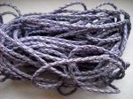 Braided leather cord 3mm - 0.5 m - purple