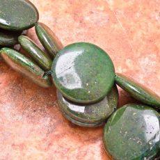 Zöld Lapis Lazuli korong- 30 mm