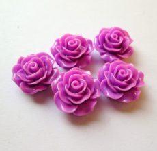 Akril rózsa kaboson -  20 mm - lila