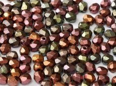 Czech fire polished beads - 4 mm