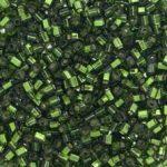 Toho 3 mm kocka - #37- Silver lined olivine - 10 gr