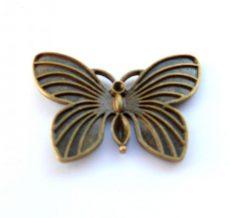 Butterfly pendant 40x28 mm - bronze