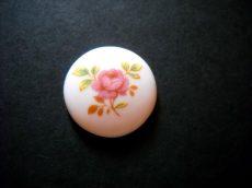 Porcelán kaboson - 25 mm - rózsa - pink-arany
