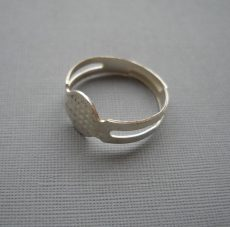 Adjustable ring blank - bright silver