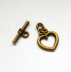 Toggle clasp - bronze - 21*16 mm