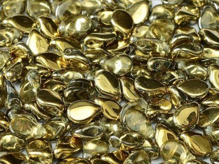 Pip gyöngy - 5x7 mm - Crystal Amber - #26441