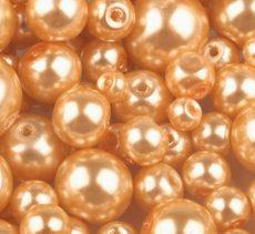 Czech glass pearl - 4 mm - 50 pcs/pack - clementine