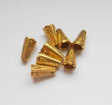 Gyöngykupak - 14*8 mm - antik arany