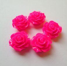 Akril rózsa kaboson -  20 mm - ciklámen