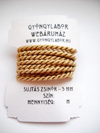 Sujtás zsinór - 2,8 mm - sodrott - ekrü (#1903)