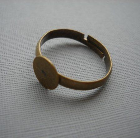 Gyűrűalap - bronz - állítható