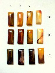 Mookait jáspis kaboson - 25X10