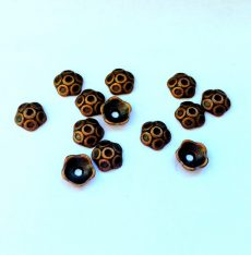 Bead cap copper cone 10x7 mm