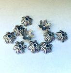 Ezüst gyöngykupak - 11x5 mm