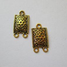 Antik arany fülbevaló alap - 24x12 mm