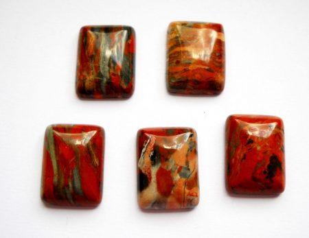 Vörös folyó jáspis kaboson - 20*16 mm