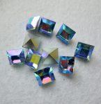 Swarovski kristály négyzet alakú kő - 8 mm - light sapphire AB