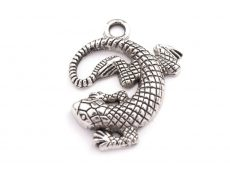 Lizard - antiqued silver - 25 mm