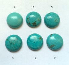 Turquoise cabochon - 26 mm