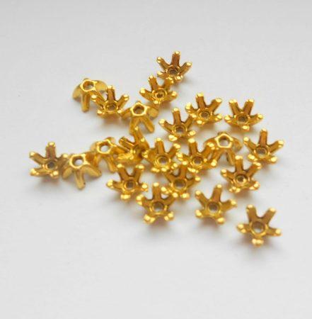 Gyöngykupak - 8*5 mm - antik arany
