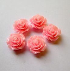 Akril rózsa kaboson -  20 mm - rózsaszín