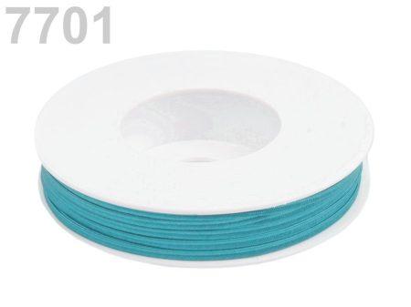 Sujtás zsinór - 3 mm - türkizkék (#7701)