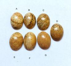 Owyhee jáspis  kaboson - 14x10 mm
