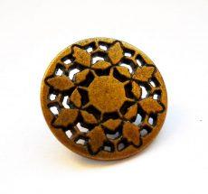 Antique finish metal shank button - 15 mm - bronze