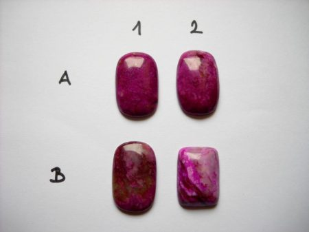 Kínai lila jáspis kaboson - 30*20 mm
