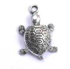 Teknősbéka - antik ezüst - 18*14  mm