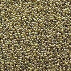 Toho 11/0 - #457 -  Arany lüszteres zöldtea - 10 gr