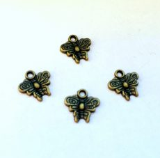 Pillangó medál - 10*10 mm - bronz - 2 pár