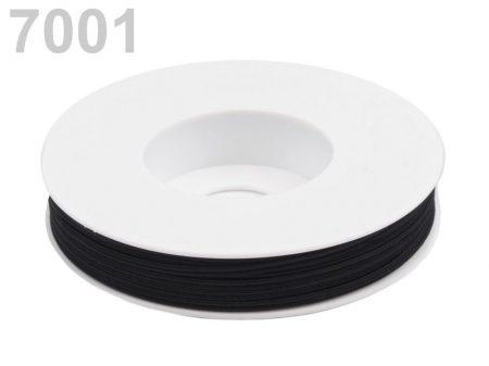 Sujtás zsinór - 3 mm - fekete (#7001)