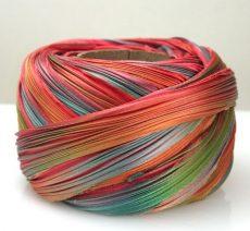 Shibori silk ribbon - feather -10 cm