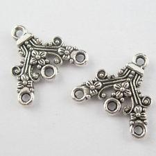 Tibeti ezüsti fülbevaló alap -  18*18 mm (1 pár)