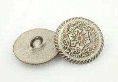Vintage filigree metal button - 40 mm