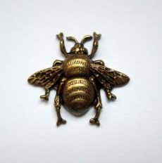 Bee - antique silver - 19*18 mm