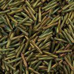 Miyuki 12 mm csavart szalmagyöngy - #2035 -  Matte Metallic Khaki Iris   - 10 gr