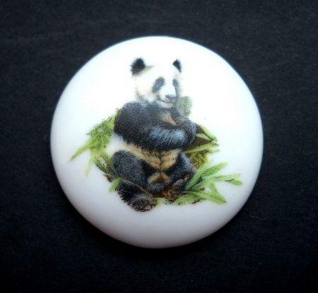 Porcelán kaboson - 30 mm - panda