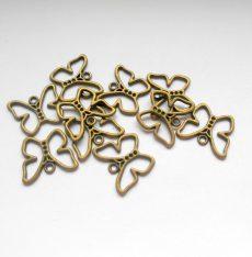 Pillangó medál - 20*16 mm - bronz - 1 pár