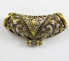 Medálvezető - 35*12 mm - antik arany