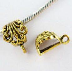 Medálvezető - 16*12 mm - antik arany