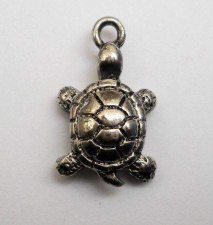 Teknősbéka - antik ezüst - 19*16  mm