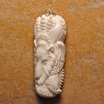 Hand carved bone cabochon