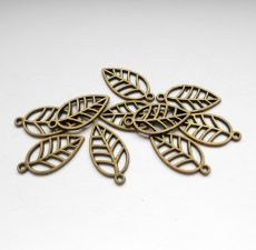 Leaf charm - 22*12 mm - bronze