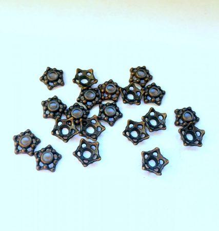 Réz gyöngykupak - 10x7 mm - tölcsér