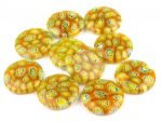 Millefiori lencse - 18 mm - lime