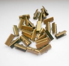 Szalagvégzáró - 20x6 mm - 4 db - bronz