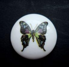 Porcelán kaboson - 30 mm - pillangó 1#