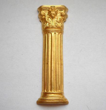 Antik oszlop - sárgaréz veret - 50*15 mm